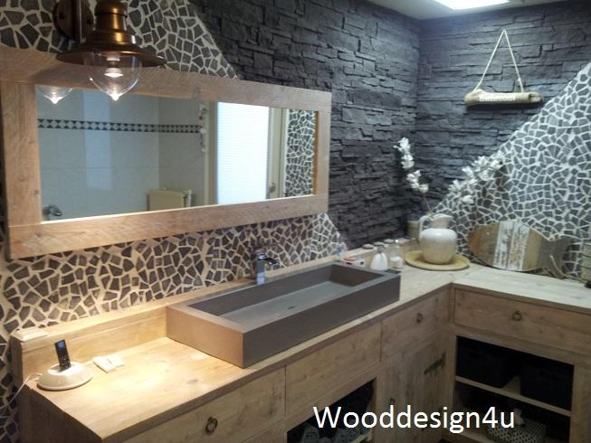 Nice steigerhout badkamer meubel fotos van badkamer stijl