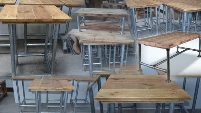 Meubels Met Steigerbuizen : Steigerbuis meubels