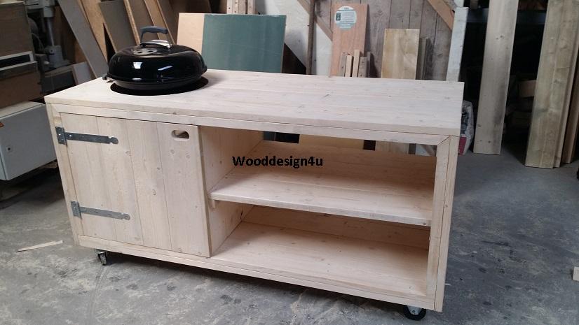 Houten Buiten Keuken : Buitenkeuken douglashout wooddesign u is gespecialiseerd in