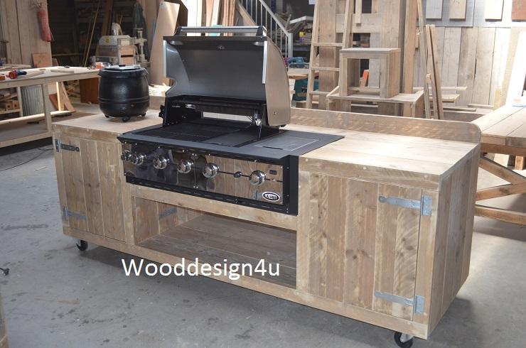 Buiten keuken green egg , weber - Wooddesign4u is gespecialiseerd ...