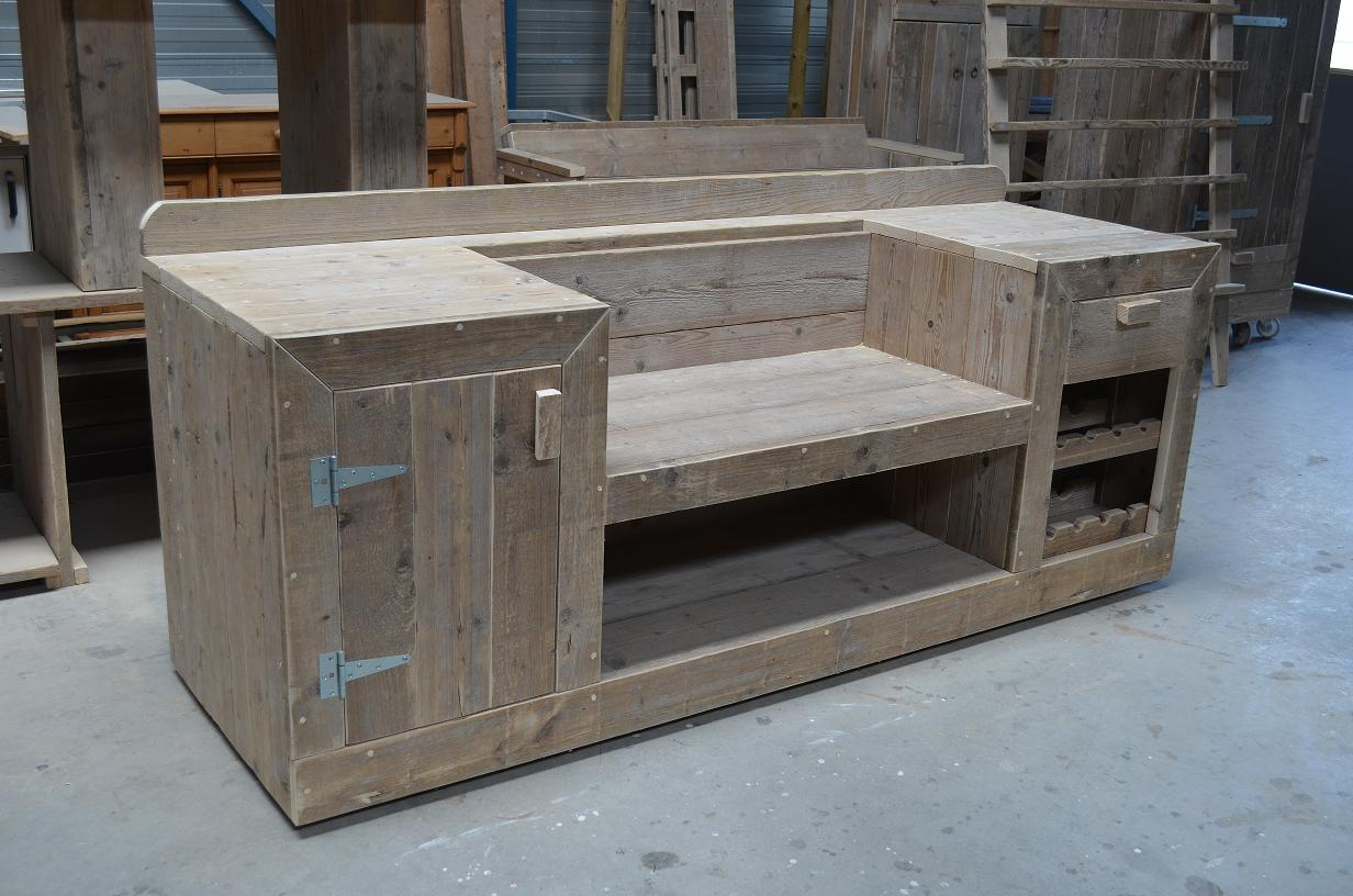 Houten Buiten Keuken : Buitenkeukenl van steigerhout