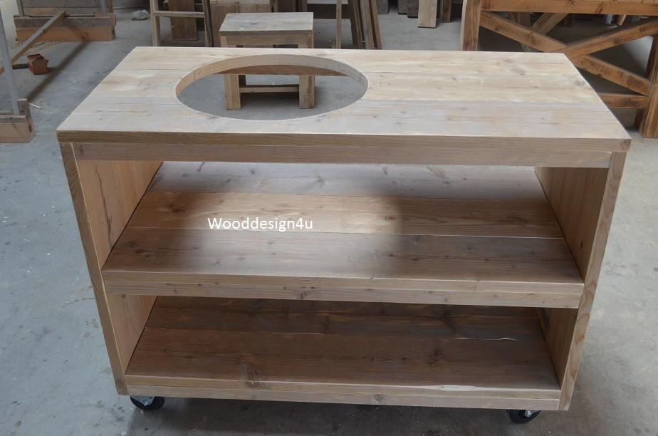 Buitenkeuken Boretti : Buitenkeukenl van steigerhout