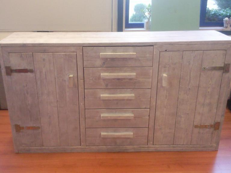 Kast White Wash : Steigerhouten kast white wash wooddesign u is gespecialiseerd in