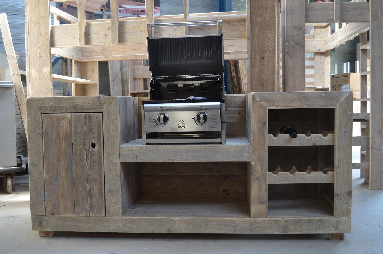 Keuken Van Steigerhout Maken : Steigerhouten buitenkeuken van steigerhout