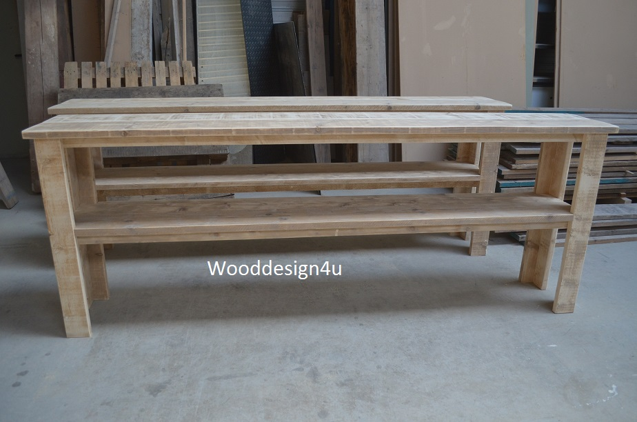 Lange Side Table.Sidetable Lang Wooddesign4u Is Gespecialiseerd In Steigerhouten Meubelen