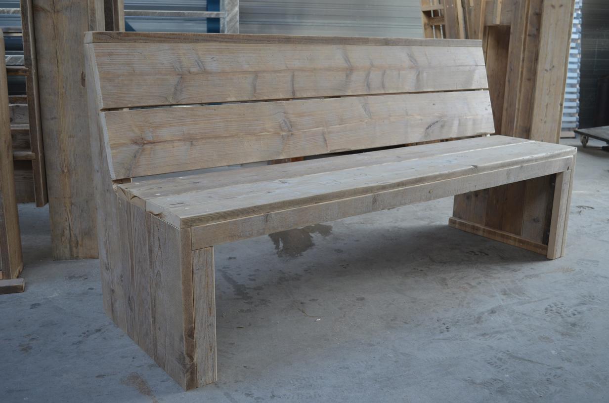 Loungebanken steigerhout op maat gemaakt