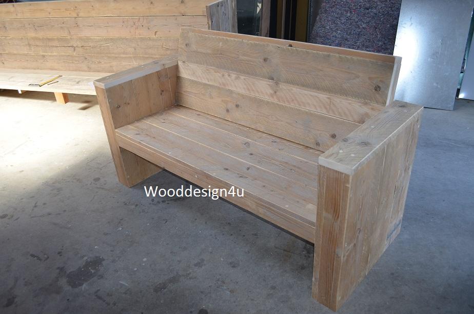 Steigerhout lounge hoekbank tuinbank loungeset gratis bezorg te