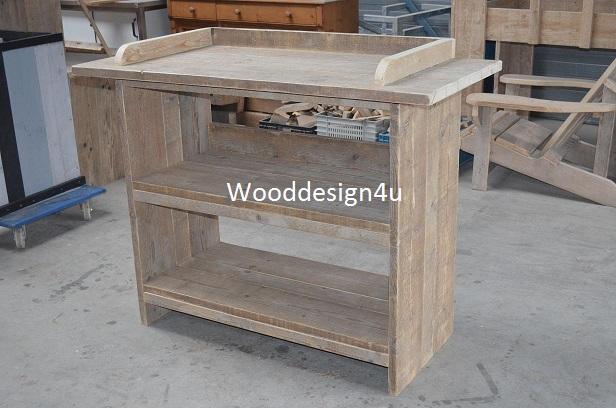 Oppottafel van steigerhout