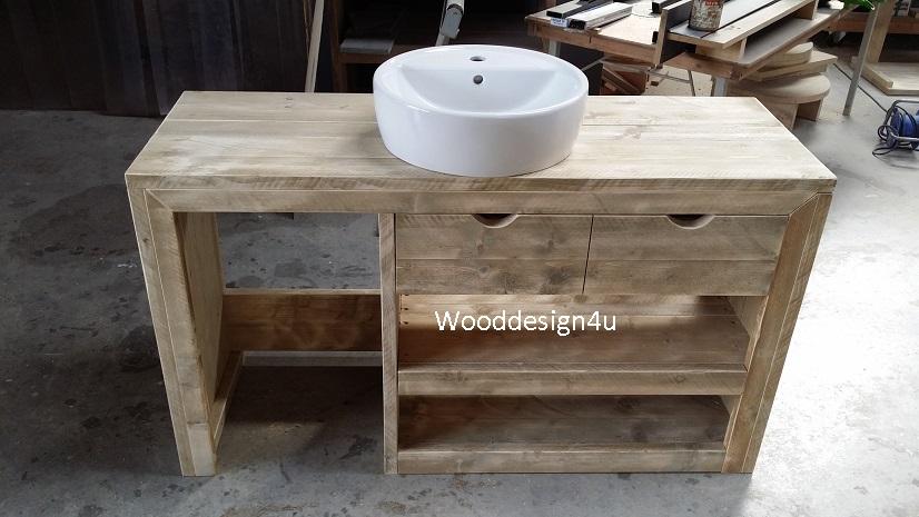 Wastafelmeubel dionne wooddesign4u is gespecialiseerd in