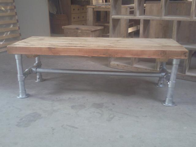 Steigerhout Steigerbuis Tafel : Salontafel steigerbuis wooddesign4u is gespecialiseerd in