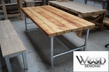 Steigerbuis Tafel Onderstel : Tafel met steigerbuis onderstel wooddesign u is gespecialiseerd
