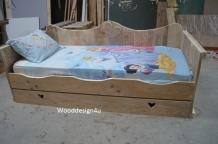 Bed Steigerhout Meisje.Eenpersoons Steigerhouten Prinsessenbed