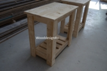 Sidetable lang wooddesign4u is gespecialiseerd in for Sidetable steigerhout