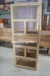 Boekenkast, kast, dressoir, kast van sloophout
